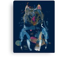 watercolor little foxy Canvas Print