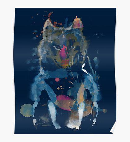 watercolor little foxy Poster