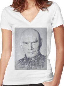 Yul Brynner by John Springfield Women's Fitted V-Neck T-Shirt