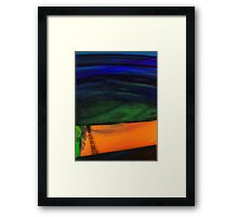 ABSTRACT ALIEN WATER DAWN  Framed Print