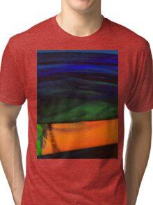 ABSTRACT ALIEN WATER DAWN  Tri-blend T-Shirt