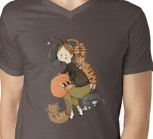 Cat Love Mens V-Neck T-Shirt