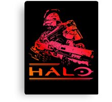 Halo - Red Canvas Print