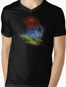 The Lord Of The Rings - Over The Hill Mens V-Neck T-Shirt