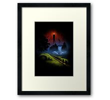 The Lord Of The Rings - Over The Hill Framed Print