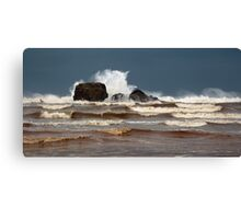 Storm Crashing on Chapel Rock Canvas Print
