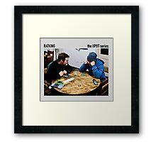 almond poker Framed Print