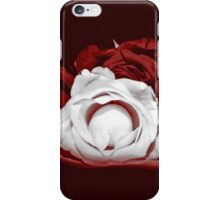 Deep Red and White Roses iPhone Case/Skin