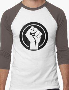Black Socialist Fist Men's Baseball ¾ T-Shirt