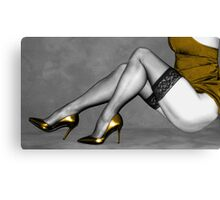 Sexy Legs in Stockings Canvas Print