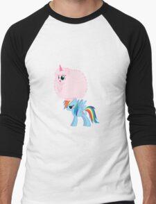 Fluffle Puff Dancing on Rainbow Men's Baseball ¾ T-Shirt