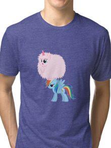 Fluffle Puff Dancing on Rainbow Tri-blend T-Shirt