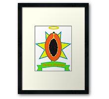 Holy Papaya Framed Print
