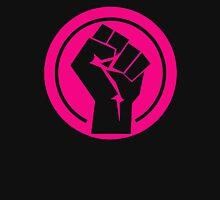 fuchsia Feminist fist Womens Fitted T-Shirt