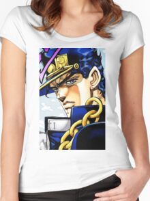 """""""Jotaro JoJo's Bizarre Adventure"""" Women's Fitted Scoop T-Shirt"""