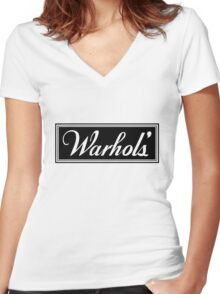 Warhol's Gold Tee/Yellow Poster Women's Fitted V-Neck T-Shirt