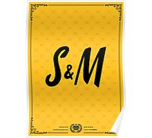 S&M Gold Tee/Yellow Poster Poster