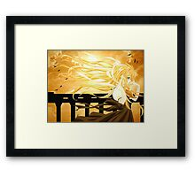 Flowing Hair By the Sunset Air Gear Framed Print