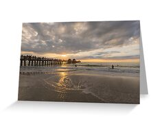 Gulf of Mexico Pier Greeting Card