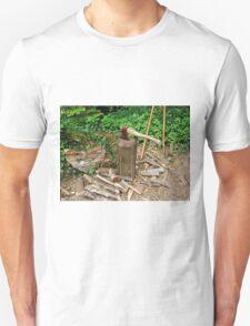 Old Axe on Wood Block Unisex T-Shirt