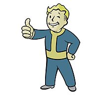 Fallout | Vault Boy | Thumbs UP | Full Body | White Background | High Quality Photographic Print