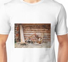 Wooden Objects Outside Forest Hut Unisex T-Shirt