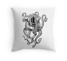 Octopus Scuba Diver Helmet Throw Pillow
