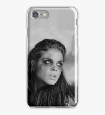 The 100 - Octavia Blake (b/w) iPhone Case/Skin