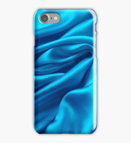 Blue Satin iPhone Case/Skin