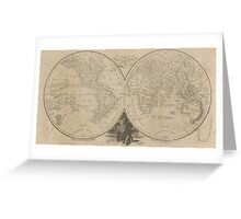 Vintage Map of The World (1811) Greeting Card