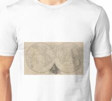 Vintage Map of The World (1811) Unisex T-Shirt