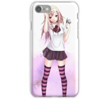 Kawaii Anime Girl Carrying Wrench iPhone Case/Skin