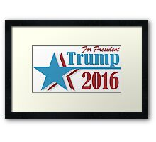 2016 election vote Donald Trump for president Framed Print