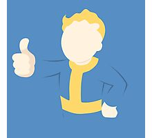 Fallout | Vault Boy | Flat | Light Blue Background | High Quality Photographic Print