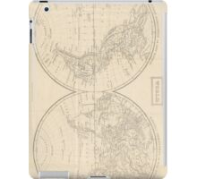 Vintage Map of The World (1857) iPad Case/Skin