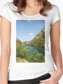 River Neretva Near Jablanica Women's Fitted Scoop T-Shirt