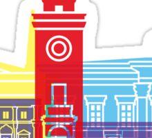 Bergamo skyline pop Sticker