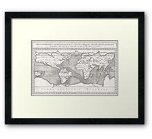 Vintage Map of The World (1665) Framed Print