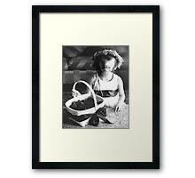 Flower Girl, a Zika Framed Print