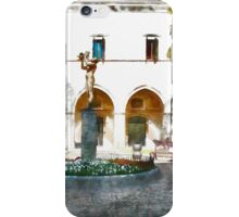 Teramo: garden with fountain iPhone Case/Skin