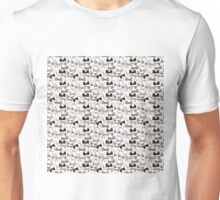 Ties bow hand drawn pattern Unisex T-Shirt