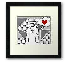 Teddy Bear Falling in Love Framed Print