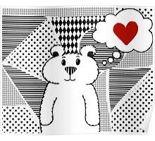 Teddy Bear Falling in Love Poster
