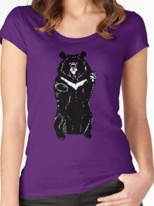 Black himalayan bear Women's Fitted Scoop T-Shirt