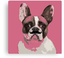 Bouledogue moustache Canvas Print