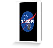 Tardis Nasa Space Program Greeting Card