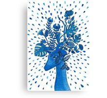 Flowery fawn  Canvas Print