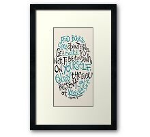 Hank Green Quote Framed Print