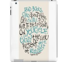 Hank Green Quote iPad Case/Skin