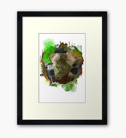 Yoda star wars Framed Print
